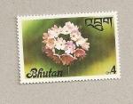 Sellos de Asia - Bhután -  Flores