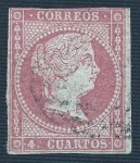 Stamps Europe - Spain -  Isabel II. - Edifil 44