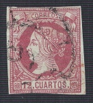 Stamps Europe - Spain -  Isabel II. - Edifil 53