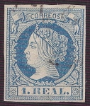 Stamps Europe - Spain -  Isabel II. - Edifil 55