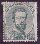 Stamps Europe - Spain -  Amadeo I. - Edifil 126