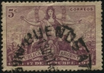 Stamps Argentina -  Primer año del movimiento popular del 17 de octubre de 1945 en la Argentina. Escudo Nacional.