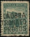 Stamps Argentina -  Reconstrucción de la casa principal escenario de la independencia Argentina el 9 de julio de 1816, e