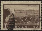 Stamps America - Argentina -  Riquezas Nacionales. Ganadería.  Pastoreo de ganado vacuno.