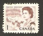 Stamps : America : Canada :  reina elizabeth II y las regiones del norte