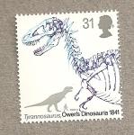 Sellos de Europa - Reino Unido -  Dinosaurios