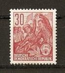 Stamps Germany -  Plan Quinquenal (Tipografiados)
