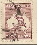Stamps Oceania - Australia -  Canguro