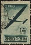 Sellos de America - Argentina -  Avi�n bimotor. Emisi�n para el servicio aeropostal, usada a veces para el franqueo com�n.