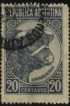 Sellos de America - Argentina -  Riquezas Nacionales. Ganadería. Cabeza de vacuno-. 1939
