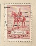 Stamps Australia -  Rey Jorge V a caballo