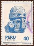 Stamps Peru -  Cabeza Pétrea - Huamachuco