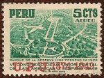 Stamps Peru -  Parque de la Reserva - Lima (19 Febrero 1929)