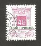 Stamps : Europe : Czech_Republic :  rococo estilo arquitectónico
