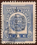 Stamps of the world : Peru :  Sobrecarga. Escudo República Peruana