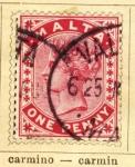Stamps Europe - Malta -  Posesion Inglesa edicion 1885