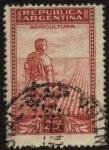 Stamps Argentina -  Riquezas Nacionales. Campesino surcando la tierra con arado de mano.