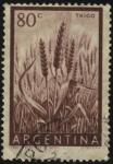 Stamps Argentina -  Cultivo del trigo en campos de la Argentina.