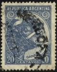 Stamps Argentina -  Riquezas Nacionales. Ganadería. Cabeza de vacuno.