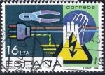 Stamps Europe - Spain -  2734 Prevención de accidentes laborales. Riesgos de la electricidad.