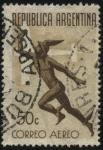 Stamps America - Argentina -  Mercurio. Heraldo y mensajero. Correo aéreo de Argentina.