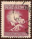 Stamps Peru -  Educación Nacional