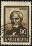 Stamps Argentina -  Guillermo Brown. 1777 – 1857. Primer almirante de la fuerza naval de la Argentina.
