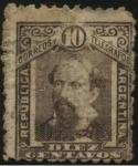 Stamps America - Argentina -  Nicolás Remigio Aurelio Avellaneda. 1837 - 1885. Abogado, periodista y político argentino. President
