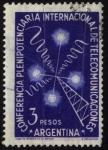 Stamps Argentina -  Conferencia Plenipotenciaria Internacional de Telecomunicaciones UIT que se realizó en Buenos Aires