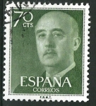Stamps Spain -  1151 General Franco.