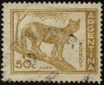 Sellos de America - Argentina -  Puma.
