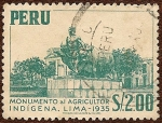 Stamps of the world : Peru :  Monumento al Agricultor Indígena, Lima - 1935