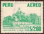 Sellos de America - Perú -  Monumento al Agricultor Indígena, Lima - 1935