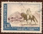 Sellos del Mundo : America : Perú : Exposición Peruana Paris-V-1958 - Chalán con Caballo de Paso Peruano