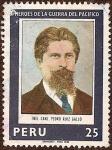 Stamps America - Peru -  Héroes de la Guerra del Pacífico - Tnte. Crnl. Pedro Ruiz Gallo.