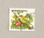 Sellos de Asia - Corea del sur -  Ave Zosterops japoninca