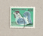 Stamps Asia - South Korea -  Gallina en cerámica
