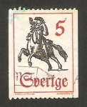 Stamps : Europe : Sweden :  mensajero a caballo