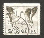 Stamps : Europe : Sweden :  danza de las grullas