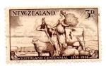 Stamps Oceania - New Zealand -  CENTENARIO DE COLONIZACION-1856-1956