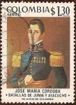 Stamps Colombia -  José María Cordoba - Batallas de Junin y Ayacucho.