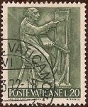 Stamps Vatican City -  Serie El Trabajo de la Gente: Pintura (relieve en bronce)