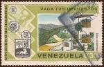 sellos de America - Venezuela -  Ministerio de Hacienda - Paga tus impuestos - Mas viviendas.