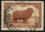 Stamps America - Argentina -  Sellos ministeriales de la República Argentina. Riquezas Argentinas. Lanas. Sobreimpreso M.R.C. Mini