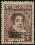 Sellos de America - Argentina -  Sellos del Servicio Oficial de la Presidencia de la Nación. Bernardino Rivadavia. Sobreimpreso SERVI