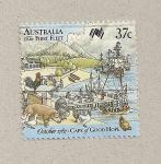 Stamps Australia -  La primera flota