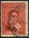 Sellos del Mundo : America : Argentina : Sello Ministerial de la  Nación  Argentina.  Bernardino Rivadavia. Sobreimpreso M.A. Ministerio de A