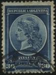 Sellos de America - Argentina -  Primera emisión de sellos oficiales de Argentina.