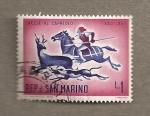Sellos de Europa - San Marino -  Caza al corzo siglo XVI