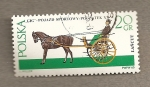 Stamps Poland -  Coche caballos